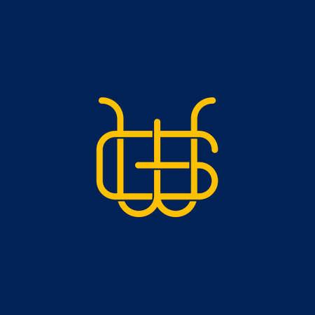 W G initial letter  design Ilustrace
