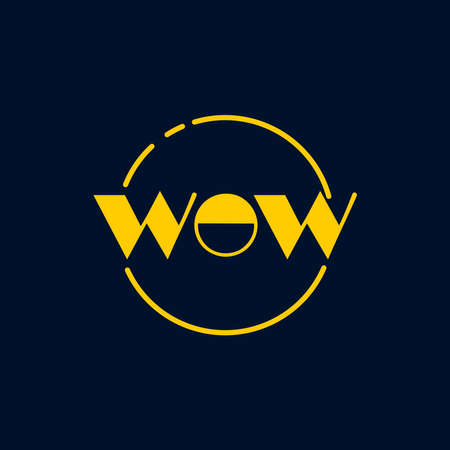 wow custom text yellow on navy background