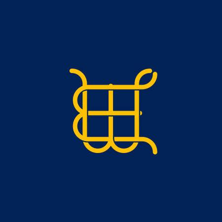 WE initial letter  design