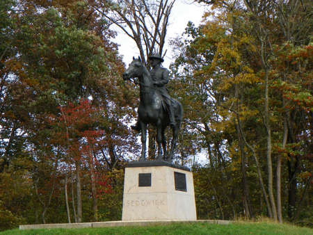 gettysburg battlefield: Sedgwick Statue on Gettysburg Battlefield