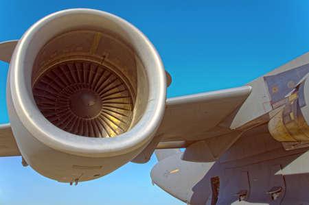 engine: Jet engine on a massive C-17 cargo plane