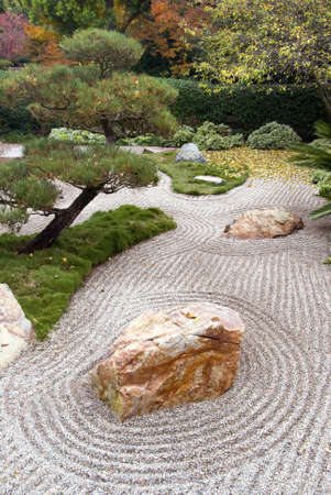 karesansui: An example of a style of garden known as karesansui, or Japanese dry landscape
