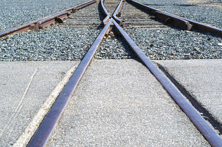 divergence: A wye (or Y shaped) switch near a train station.