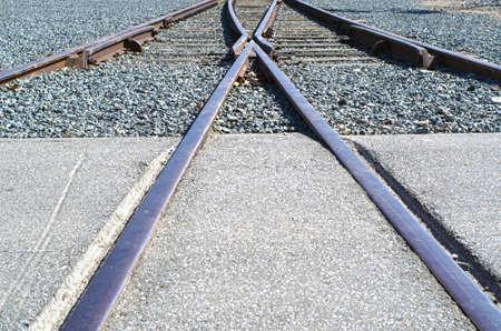 convergence: A wye (or Y shaped) switch near a train station.