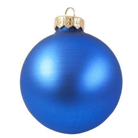blue christmas ornament . Isolated over white. photo