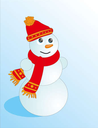 Isolated vecrot Snowman Stock Photo - 7409869
