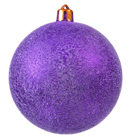 violet christmas ornament . Isolated over white. photo