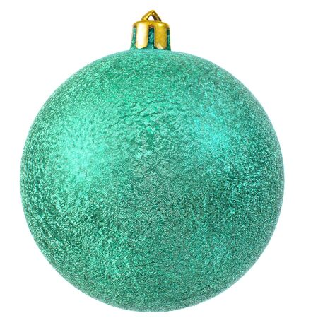 green christmas ornament . Isolated over white. Stock Photo - 7899547