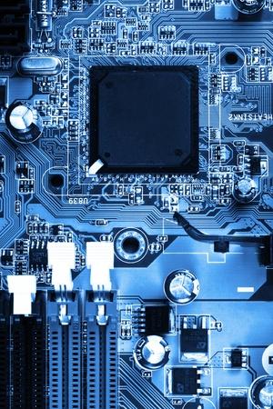 macro photo of electronic circuit   symbol of technology  Close up Stock Photo - 12862730