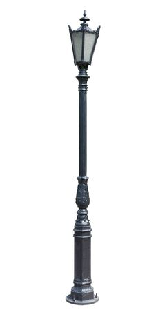 metal post: lamp post . street  lampost. streetlight collection. isolated on white background.