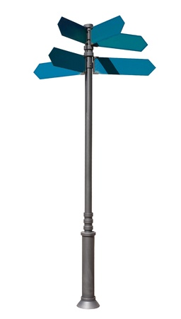 indexes: guidepost. Isolated over white background. indexes, signpost