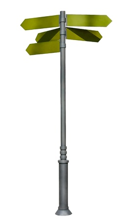 guidepost: guidepost. Isolated over white background. indexes, signpost