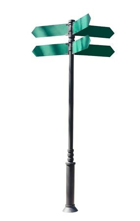 indexes: guidepost  Isolated over white background  indexes, signpost Stock Photo
