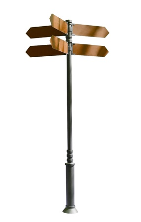 guidepost. Isolated over white background. indexes, signpost Stock Photo - 21327903