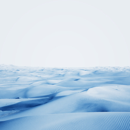 Arctic desert. winter landscape with snow drifts.