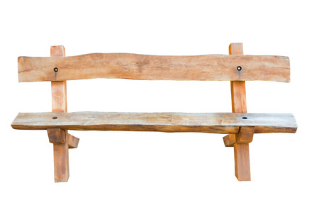 Bench. Wooden. of rough planks and logs. rustic bench of ecological materials. photo