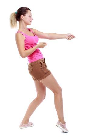 Girl Pulling Rope