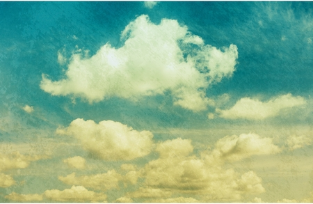 old photographs: clouds in vintage style. sky with clouds Stylized under the old photographs. Stock Photo
