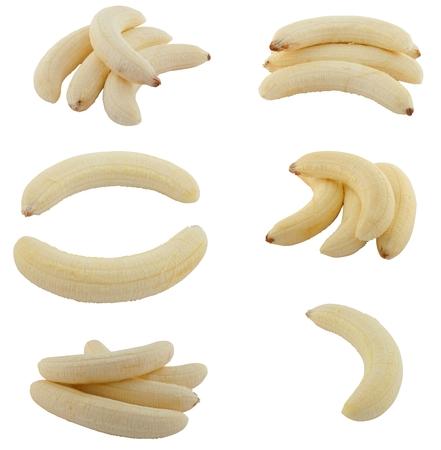 Sammeln von Früchten Bananen isoliert auf weißem Hintergrund Standard-Bild - 62313784