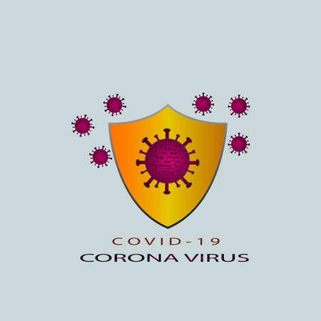 Illustrative design concept of protection from Corona Virus Illusztráció
