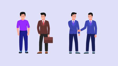 businessman people set collection with flat style vector 일러스트