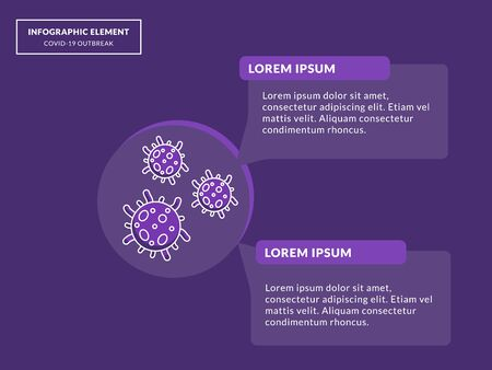 virus information with some infographic element and modern flat style