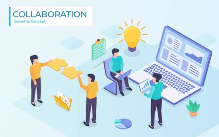executive business teamwork collaboration ,vector illustration graphic design.