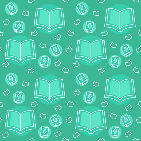 Quran pattern icon holy islam ramadan kareem open book with filled color background green theme flat style design vector