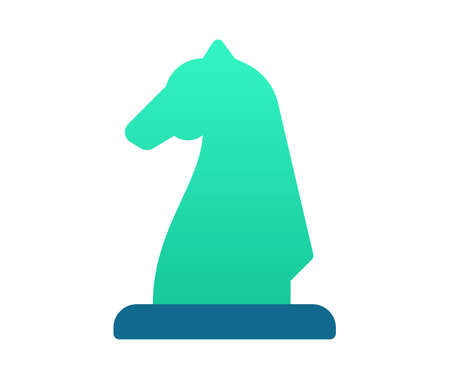 strategy strategist chess single isolated icon with gradient style vector design illustration