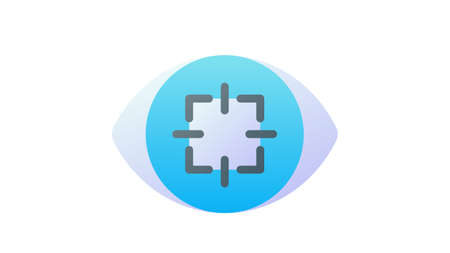 focus concentration sharpen attention single isolated icon with smooth style vector illustration