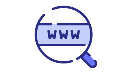 browsing world wide web search internet single isolated icon with dash or dashed line style vector design illustration Vector Illustration