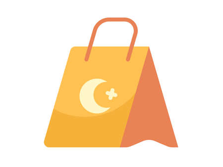 gift bag single isolated icon with flat style vector illustration