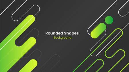 Abstract Black and Green Rounded Shapes Background Vektoros illusztráció