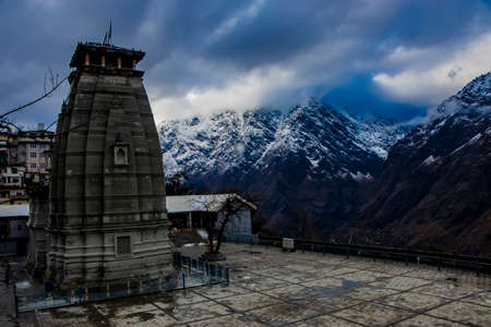A lord shiva temple in the mountains