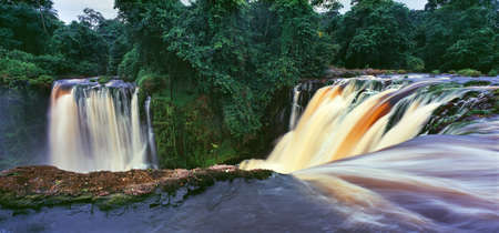 waterfall in the jungle of gabon Stock Photo - 89515836