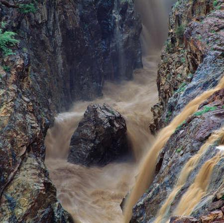 waterfall in savannah in namibia