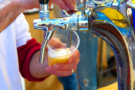 Draft beer on a typical Tuscan party