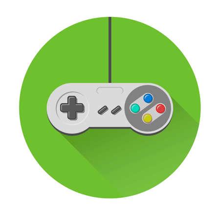 Vintage joystick joypad videogame controller icon Illustration