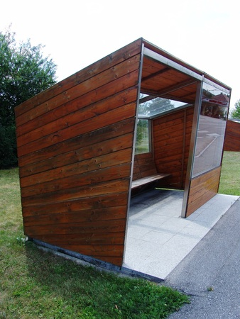 waiting box for weatherproof shelter