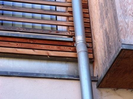 木製ファサード 写真素材