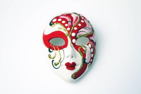 mask pp on white photo