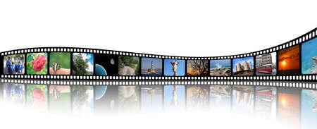 Frame film with various photos inside