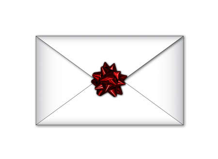 White letter envelope with red cockade