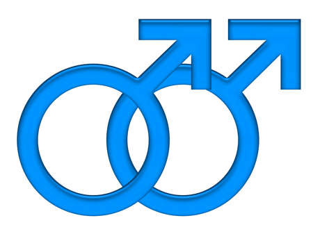 Male and male gender symbols icon