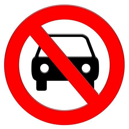 Car prohibition symbol illustration icon
