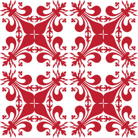 Pattern background with red florentine lily Archivio Fotografico
