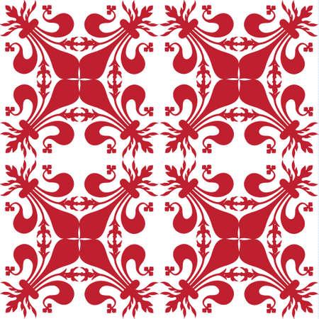 Pattern background with red florentine lily Reklamní fotografie