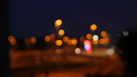 Photo of a city landscape out of focus, creating a boke effect
