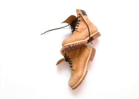 boots: Botas de trabajo Shot Hombres De Arriba Foto de archivo