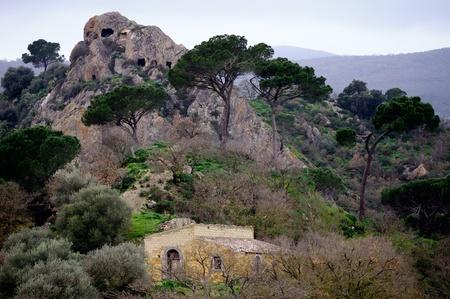 hermit: Hermit caverns, Nicosia, Sicily, Italy